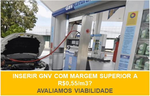 Inserir GNV com margem superior a R$0,55/m3?