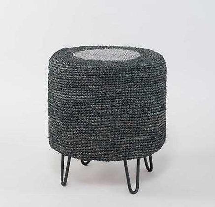 Rosambi Round Stool-Grey Black