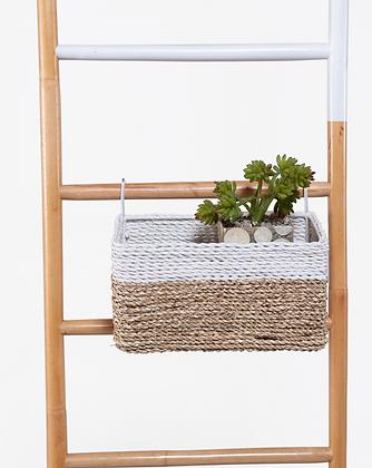 Blanca Rectangular Basket ( Natural White)