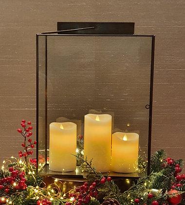 Rectangular Candleholder W/ Handle