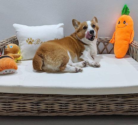Nocciola Dog Bed - Grey