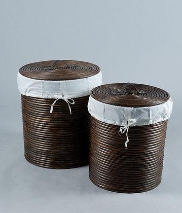 Cordoba Laundry Basket Dark Brown