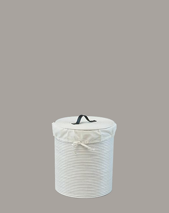 Cordoba Laundry Basket White Small