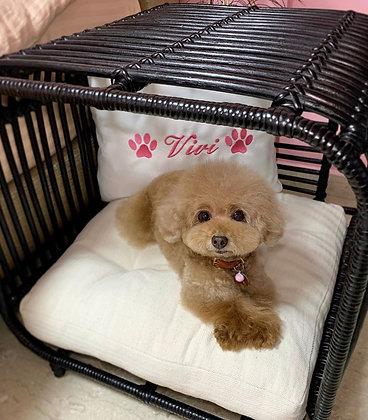 Broche Dog Bed - Black