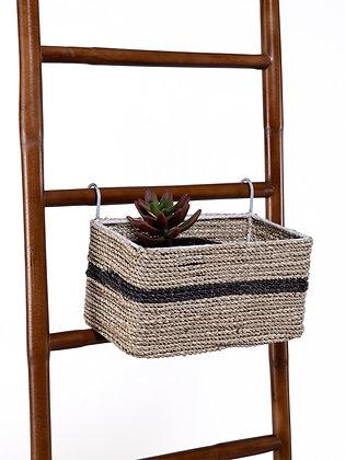 Blanca Rectangular Basket ( Natural Black)