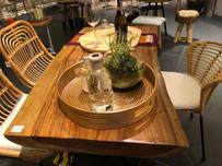 Tomo & Koleji Dining Chairs + Sevilla Dining Table display @ Tangs