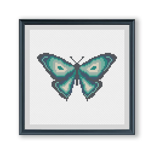 Miniature Green Butterfly Cross Stitch Kit