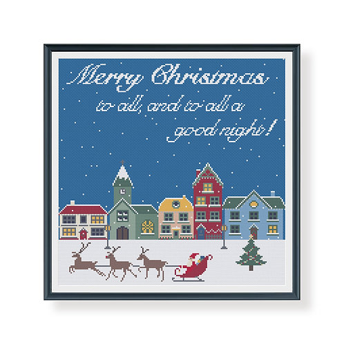 Merry Christmas To All Cross Stitch Pattern