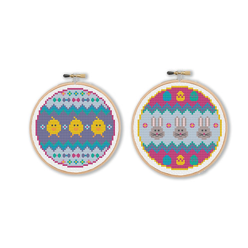Easter Decorations Cross Stitch Pattern