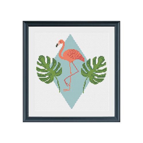 Fun Flamingo Cross Stitch Pattern