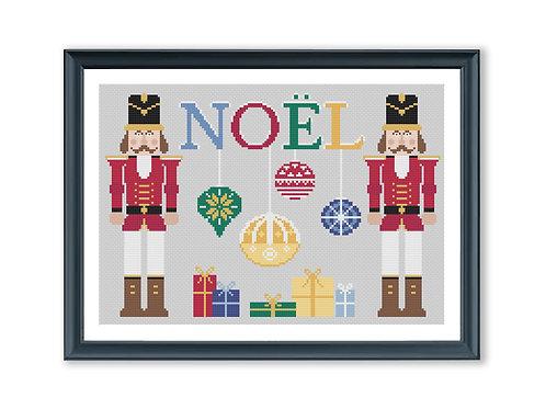 Christmas Nutcracker Cross Stitch Pattern