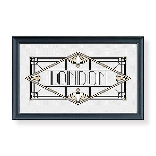 Art Deco London Cross Stitch Pattern