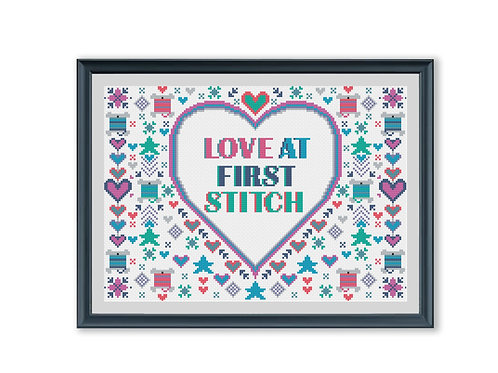Love at First Stitch Cross Stitch Kit