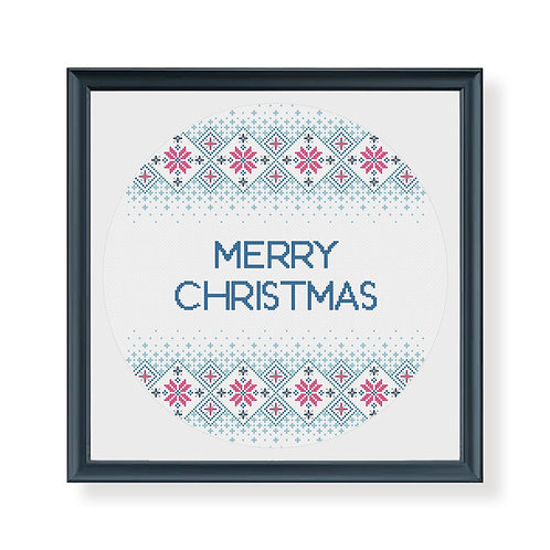 Christmas Fairisle Sampler Cross Stitch Pattern
