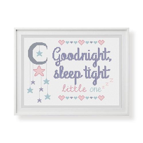 Goodnight Sleep Tight Cross Stitch Pattern
