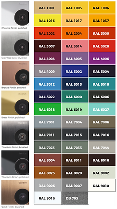 Doorbird Colour finishes