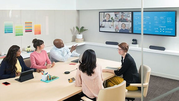 Video conferencing meeting room setup