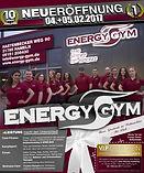 Energy Gym finale Anzeige zur Eröffnung