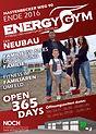Energy Gym Anzeige zum Beginn der Bauphase