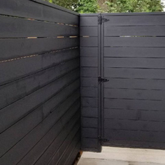 Black Wooden Fence DN Decks And Fences
