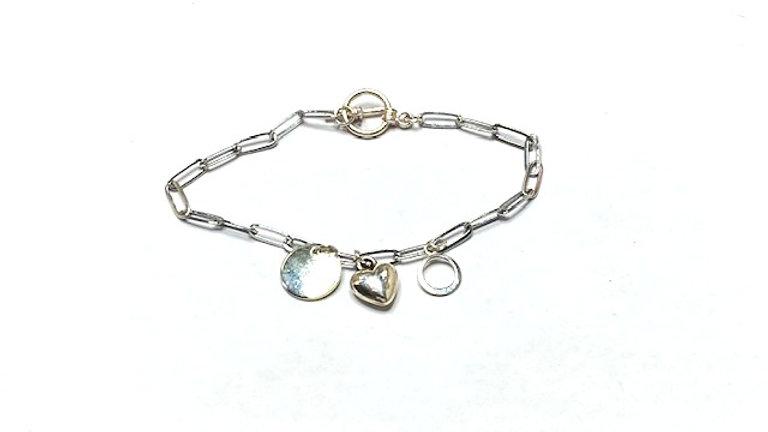 Silver plated charm bracelet