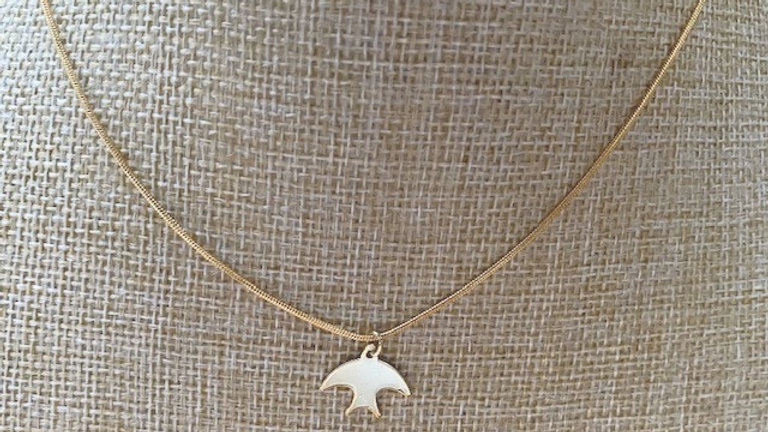 Gold plated chain with swallow charm