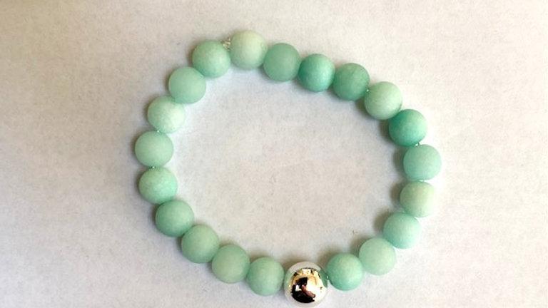 Frosted Amazonite bracelet
