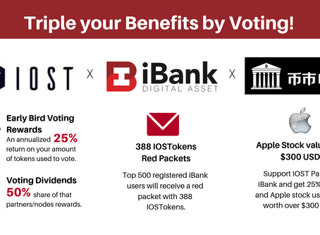 Triple your Benefits with IOST, iBank and BISS!
