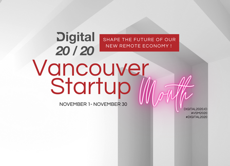 Event Guide | Digital 2020, Vancouver Startup Month