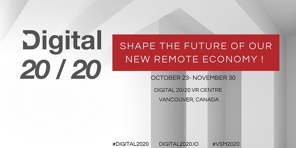 Digital 2020, Shape the Future of Our New Remote Economy ( Oct.23-Nov.30)