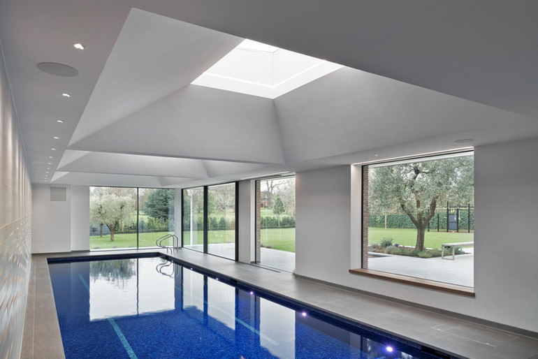 Vaulted pool roof