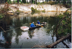 Boat in heritage pines sinkhole