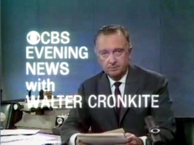 "Walter Leland Cronkite Jr. was an American broadcast journalist who served as anchorman for the CBS Evening News for 19 years. During the 1960s and 1970s, he was often cited as ""the most trusted man in America"" after being so named in an opinion poll. Wikipedia"