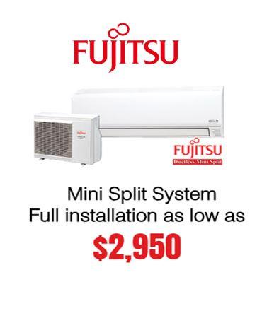Fujitsu Mini Split Sytem Ductless