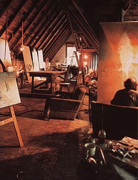 Atelier de Jordi Bonet au manoir rouville Campbell vers 1976