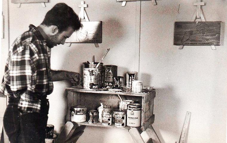 Atelier de Jordi Bonet, Montréal. Trois-Rivières. Vers 1957