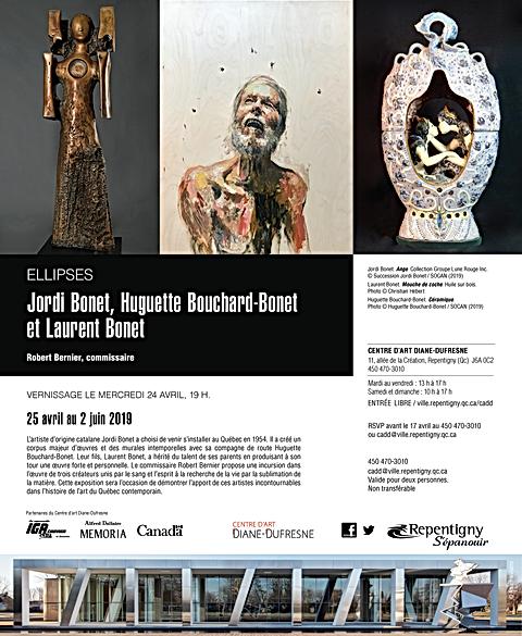 Affiche invitation exposition bonet Repe