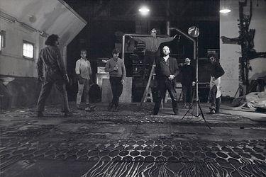Jordi Bonet, atelier de Pierrefond, vers 1968