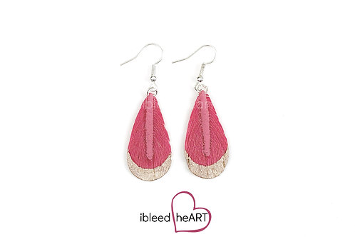 Rose Gold Dipped Pink Teardrop Shape - #t26