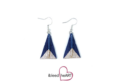Rose Gold Dipped Blue Triangle Shape - #tr47