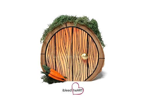 Orange Door with Carrots