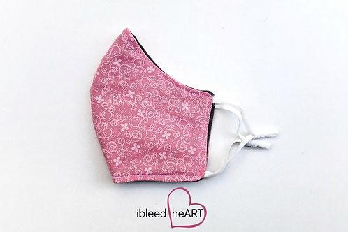Pink Floral Washable Face Mask - Medium