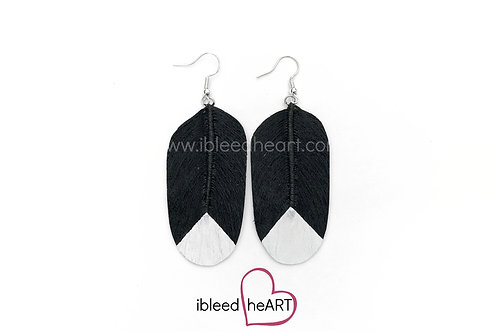 Magpie Feather Earrings