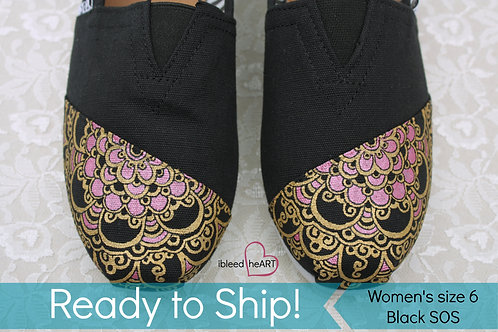 Pink and Gold Mandala Shoes - Women's 6