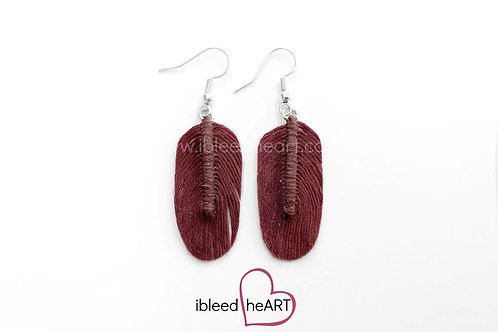 Red Brown Oval Shape - #115