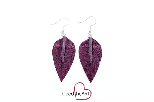 Purple Maroon Long Teardrop Shape - #127