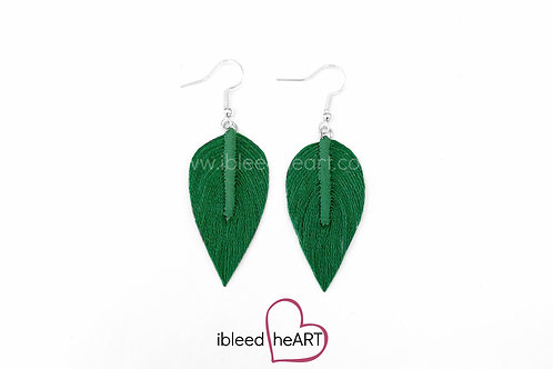 Green Long Teardrop Shape - #218