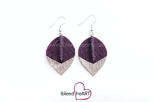 Rose Gold Dipped Maroon Short Teardrop Shape - #132