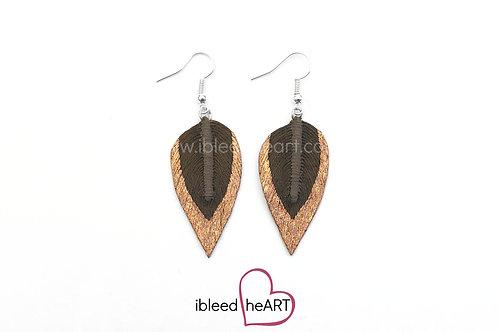Copper Dipped Brown Teardrop Shape - #303