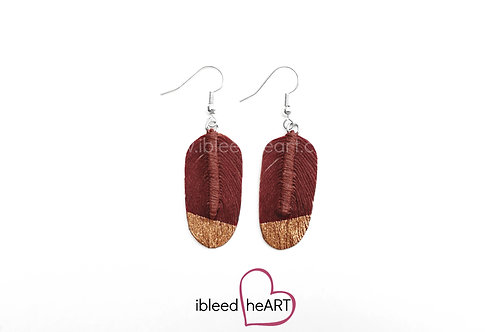 Copper Dipped Red Brown Oval Shape - #23
